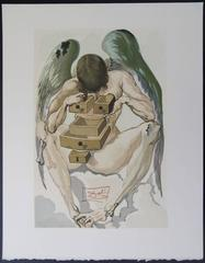 Purgatory 1 - The Fallen Angel - Original woodcut - 1963