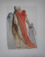 Purgatory 5 - The reproaches of Virgil - Original woodcut - 1963