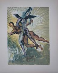 Purgatory 8 - The Guardian Angels of the Valley - Original woodcut - 1963