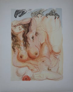 Purgatory 9 - The Dream - Color woodcut - 1963
