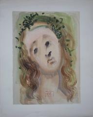 Purgatory 10 - The Face of Virgil -  Original woodcut - 1963