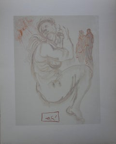 Purgatory 19 - Dante's Dream - woodcut - 1963