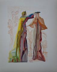 Purgatory 27 - The Last Words of Virgil - woodcut - 1963