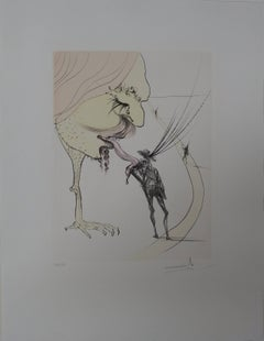 Picasso : A Ticket for Glory - orignal etching - signed - 1974