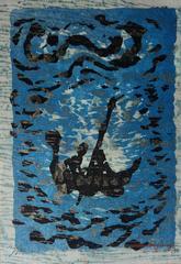 Floating Boat - Original handsigned lithograph - 100ex - 1983