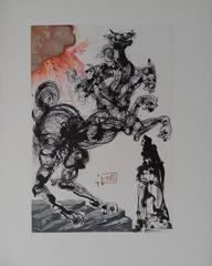 Divine Comedy : Cerberus - Woodcut - 1963