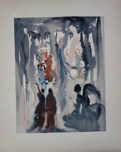 Heaven 13 - Thus was Earth created - Color woodcut - 1963