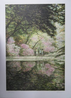 New York City : Spring at Central Park - Original handsigned lithograph