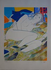 Blue Eyes - Original handsigned lithograph - 199ex
