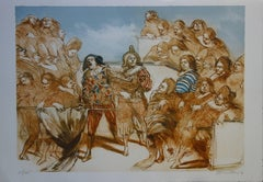 Moliere on Stage - Original handsigned lithograph - 200ex