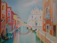 Gondola in Venice - Original handsigned lithograph - 275ex