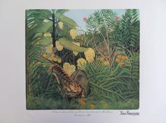 Fight Between a Tiger and a Buffalo - Lithograph - 300ex