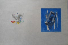 Abstract Nature & Crystals - Signed lithograph - Mourlot 1953
