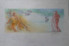 Meeting Alexis in a Landscape - Signed lithograph - Mourlot 1953