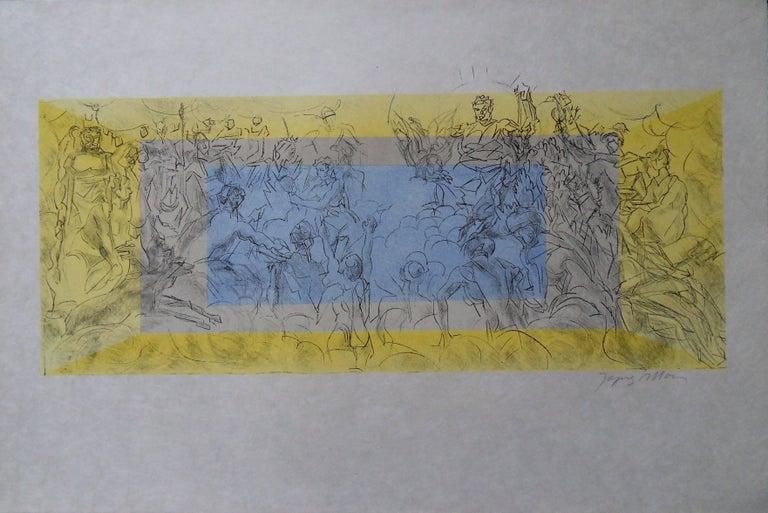 Jacques Villon Figurative Print - Mythology : The Gods of Olympe - Signed lithograph - Mourlot 1953