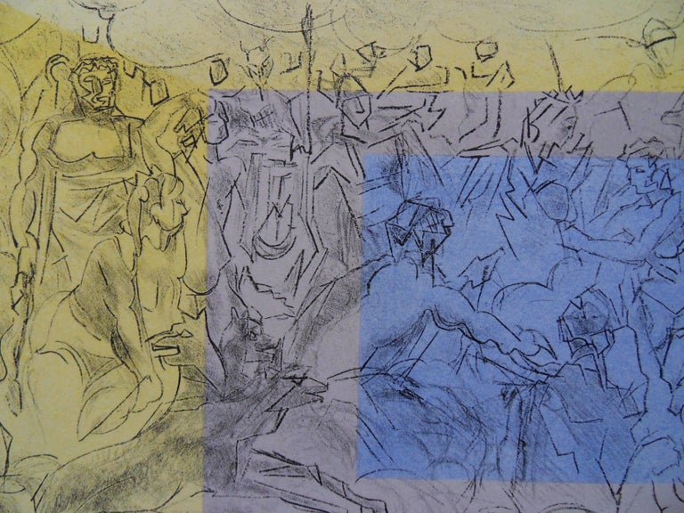 Mythology : The Gods of Olympe - Signed lithograph - Mourlot 1953 - Modern Print by Jacques Villon
