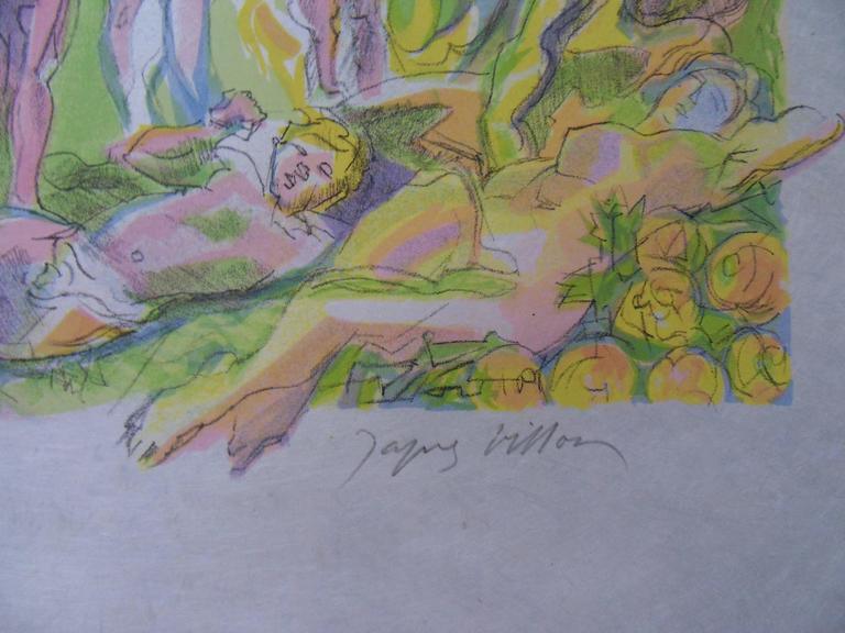 Golden Age - Signed lithograph - Mourlot 1953 - Print by Jacques Villon