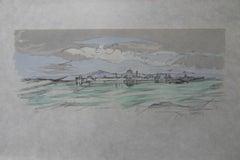 Italy : Landscape near Mantua - Signed lithograph - Mourlot 1953
