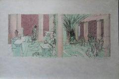Atrium - Signed lithograph - Mourlot 1953