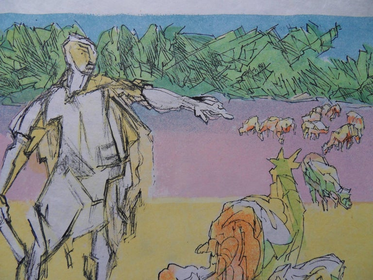 Virgil expelled - Signed lithograph - Mourlot 1953 3