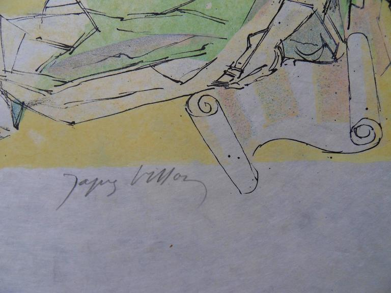 Virgil expelled - Signed lithograph - Mourlot 1953 - Print by Jacques Villon