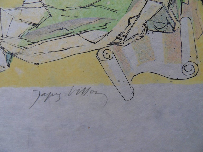 Virgil expelled - Signed lithograph - Mourlot 1953 2