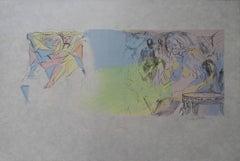 Pollio and Augustus Caesar - Signed lithograph - Mourlot 1953