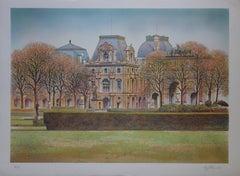 Paris : Louvre Museum - Original handsigned lithograph - 275ex