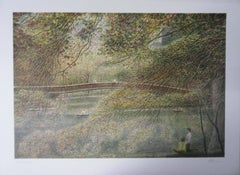 NewYork City : View of Central Park - Original handsigned lithograph