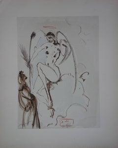 Heaven 31 - The Archangel Gabriel - woodcut - 1963