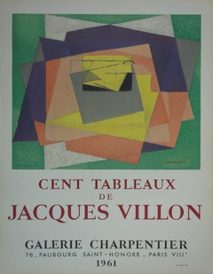 "Exhibition poster ""Cent Tableaux de Jacques Villon"""