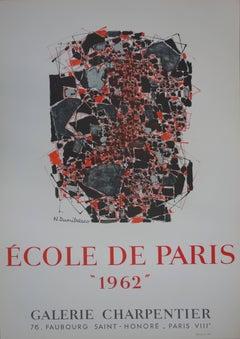 """Exhibition poster for the """"Ecole de Paris 1962"""" Group Exhibition"""