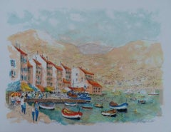 Sea Side in Saint Tropez - Handsigned lithograph