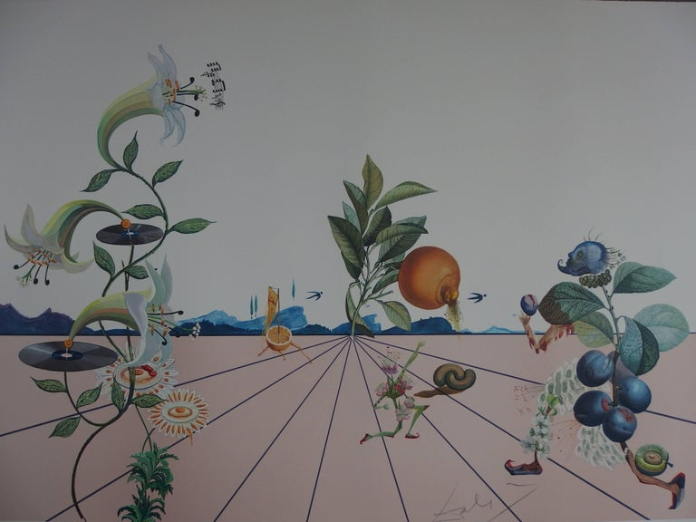 Flordali I - Original Lithograph - 1981 - Surrealist Print by Salvador Dalí