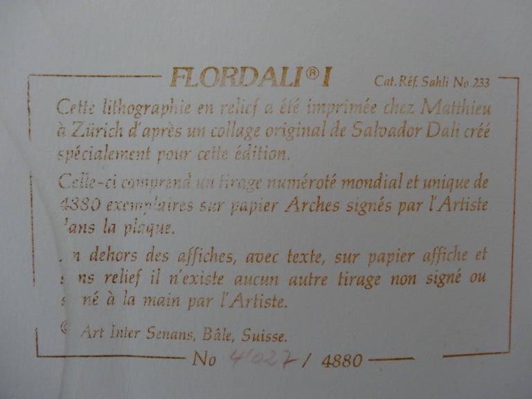 Flordali I - Original Lithograph - 1981 For Sale 4