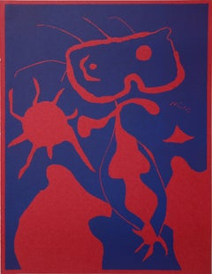 Boy with Red Sun - Original linocut - 1938