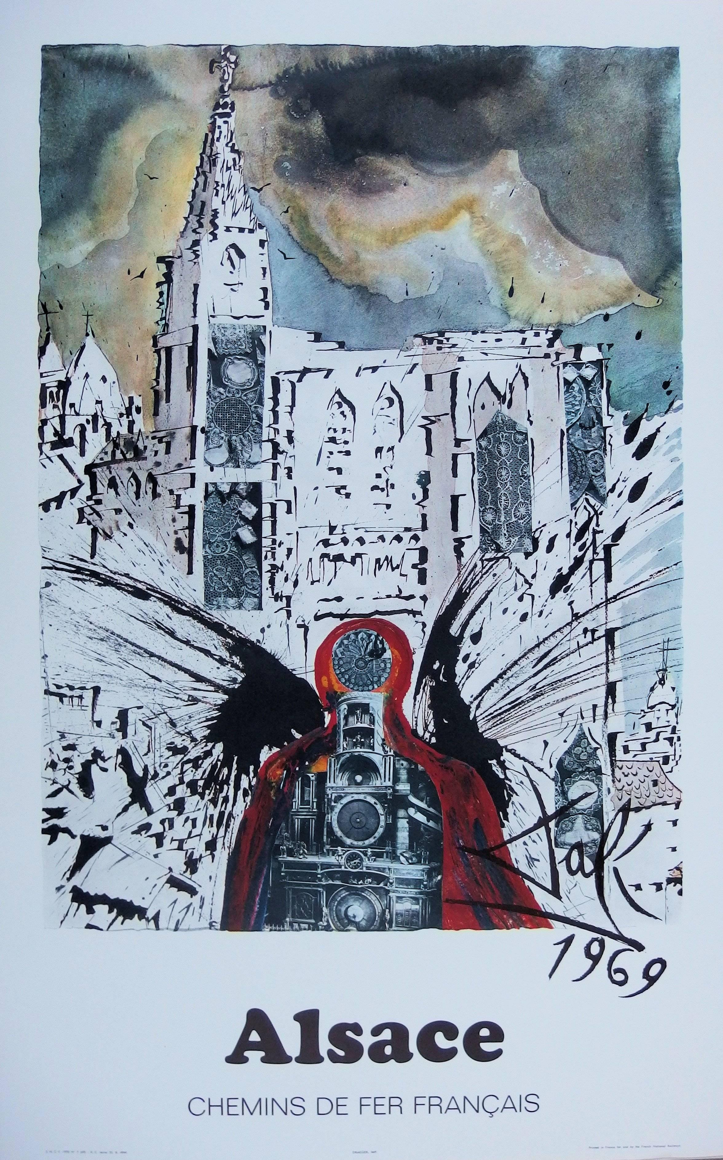Butterfly suite : Alsace / Strasbourg - lithograph - Tall size, 1969