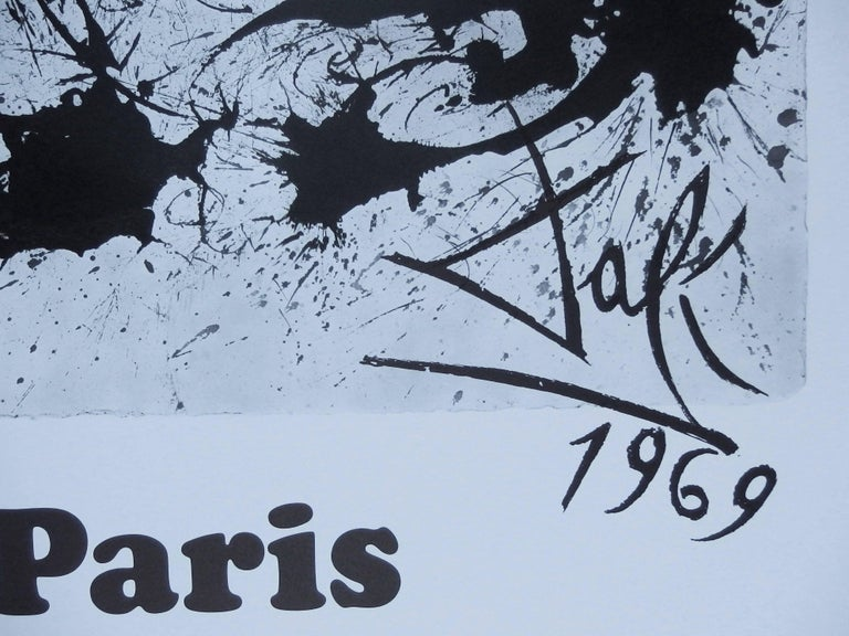 Butterfly suite : Paris -  lithograph - Tall size, 1969 - Print by (after) Salvador Dali