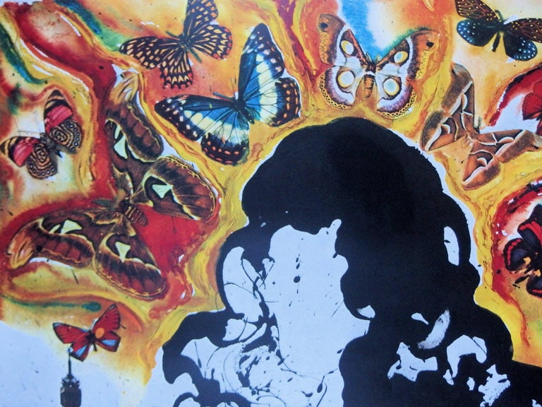 Butterfly suite : Paris -  lithograph - Tall size, 1969 - Surrealist Print by (after) Salvador Dali