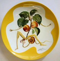 Flordali, Knight Apricot - Porcelain dish (Imperial yellow finish)