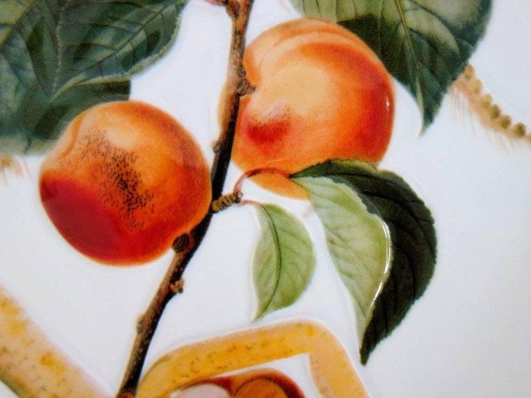 Flordali, Knight Apricot - Porcelain dish (Black finish) For Sale 2