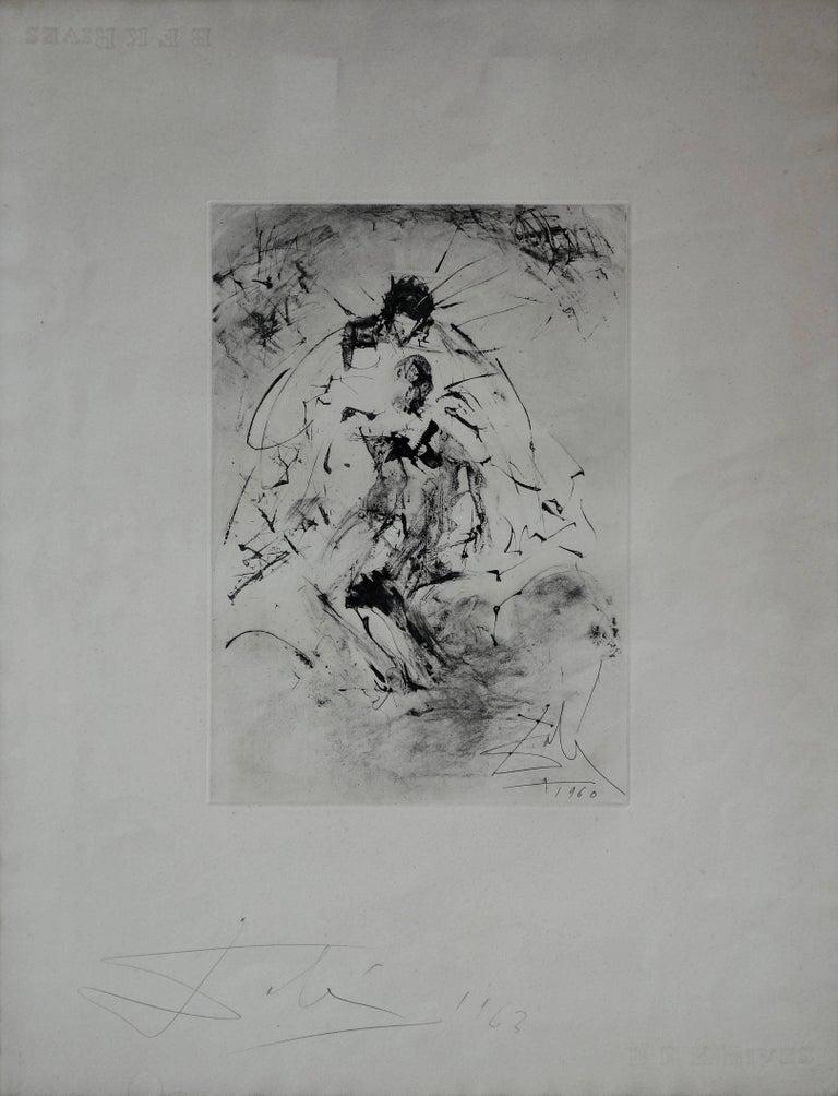 c0e0ed0df8ce (after) Salvador Dali Figurative Print - Pieta : Isis Soutenant Osiris  Mutile - Rare