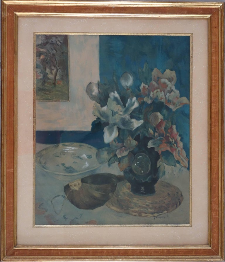 After paul gauguin still life with mandolin pochoir for Pochoir prints for sale