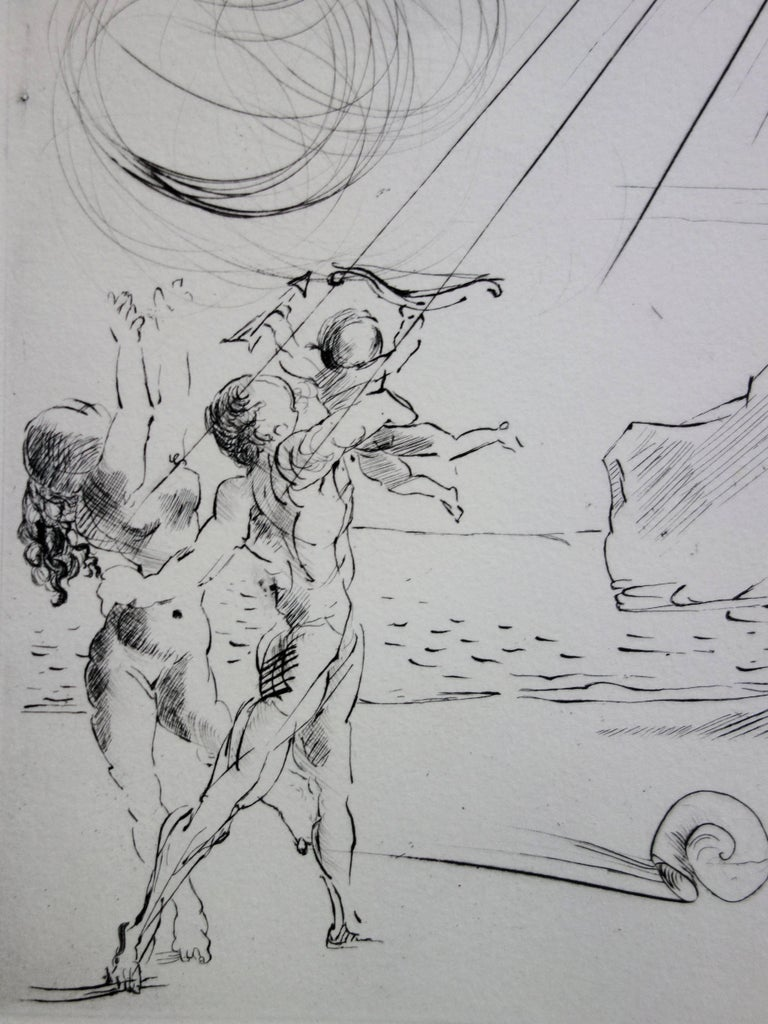 Seascape at Cadaques - Original etching - 50ex / 1967 For Sale 3