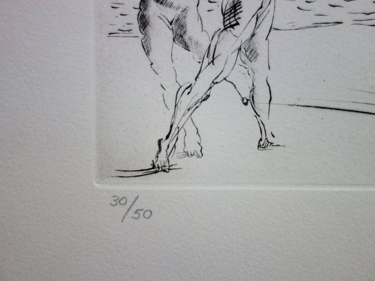 Seascape at Cadaques - Original etching - 50ex / 1967 For Sale 4