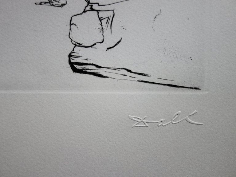 Seascape at Cadaques - Original etching - 50ex / 1967 - Print by Salvador Dalí