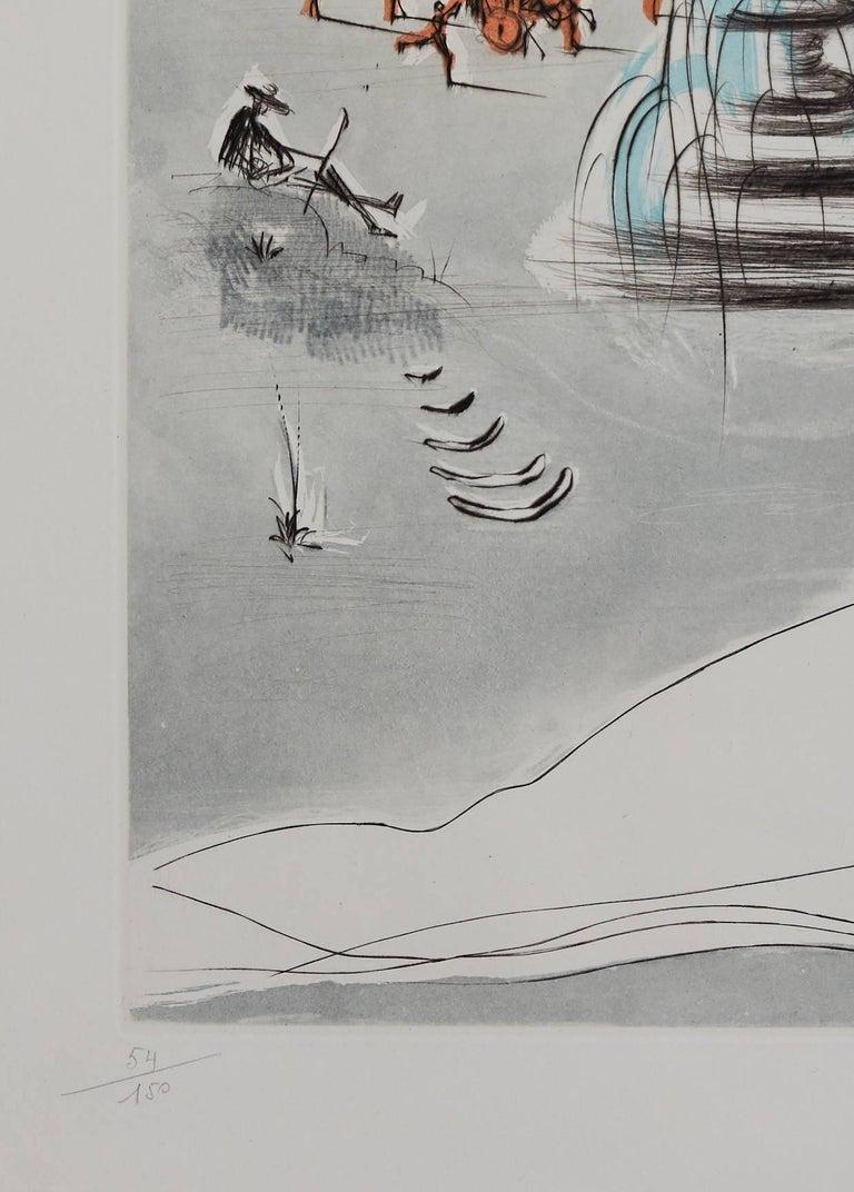 Salvador DALI  Gala et l'obélisque de la Concorde from the series