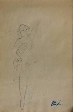 Ballerina - Original pencil drawing