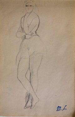 Female drawing - Original pencil drawing