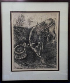 Fables : The Frog and the Beef - Original etching - 1952